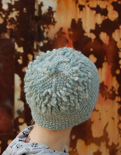 Slightly Loopy hat - knitting pattern