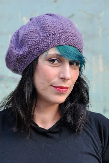 Pleated Beret - knitting pattern