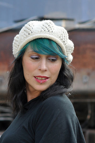Trellis Beret - knitting pattern