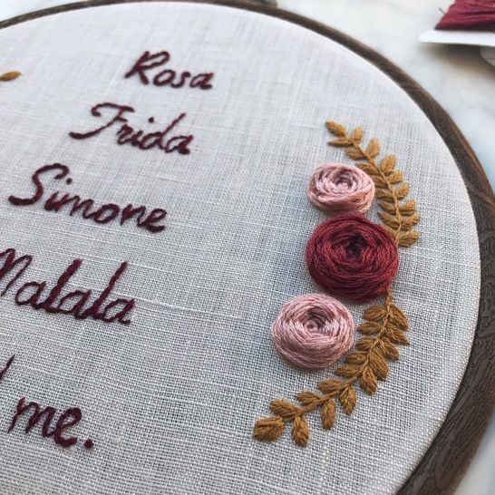 """""""Malala and cie"""" - modèle broderie - Woman power"""