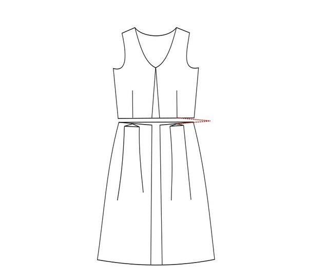 Women's Boat Neck Dress Sewing Pattern PDF Bust 33-43""