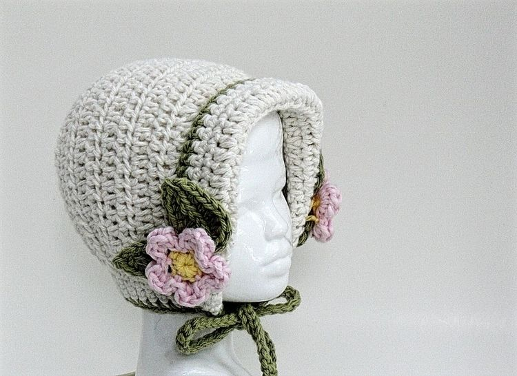 Baby Girl Bonnet and Slippers