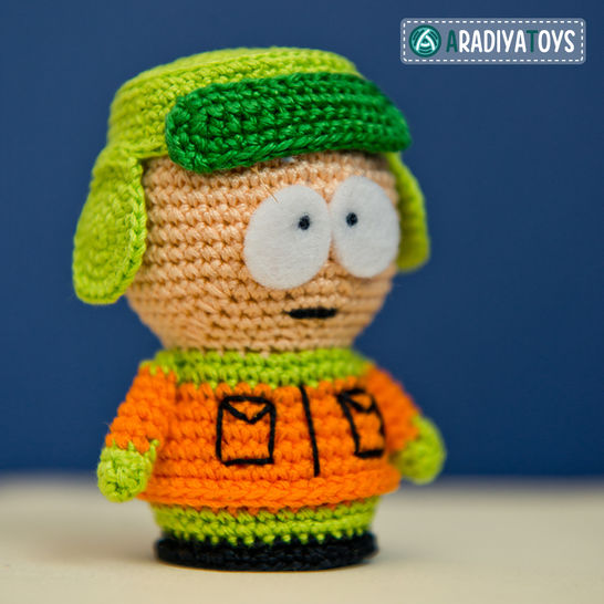 Crochet Pattern of Kyle Broflovski by AradiyaToys