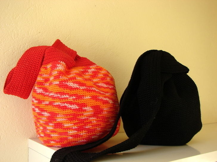 Japanese knot bag - crochet pattern