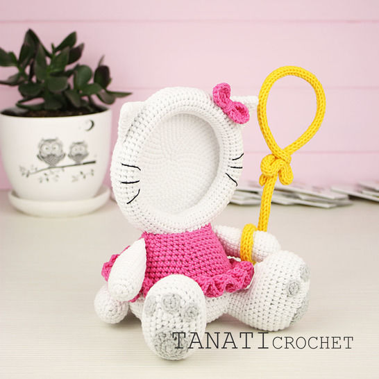 "TUTORIEL CROCHET ""Cadre Photo KITTY"""
