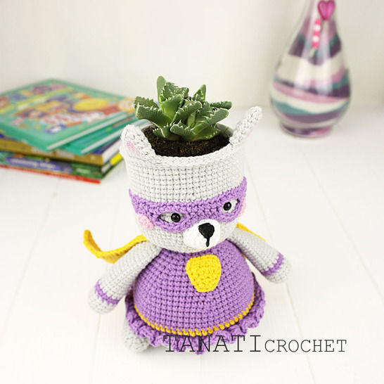 "TUTORIEL CROCHET ""Cache-pot SUPER CHAT"""