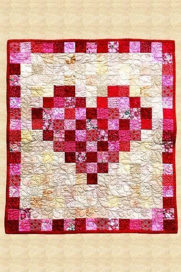 February Heart Quilted Wall Hanging Pattern