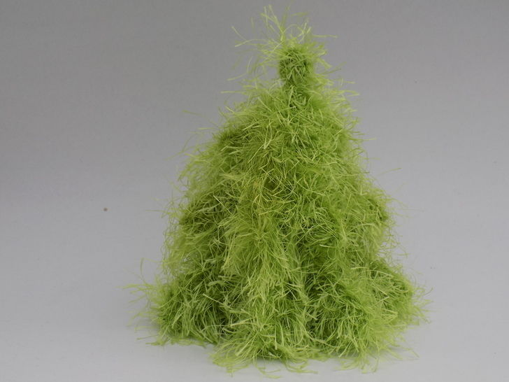 Knitted 3D Christmas Tree Pattern, Knitting home decor