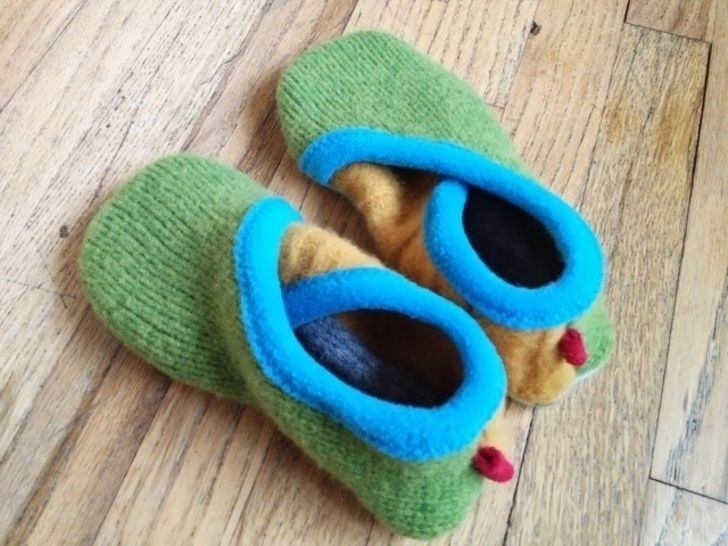 Upcycled Sweater Slippers - CROSSOVER - PDF Sewing Pattern