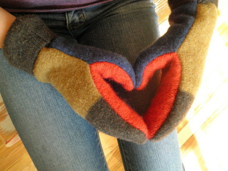 Mittens - Upcycled Wool Sweater Mittens - PDF Sewing Pattern