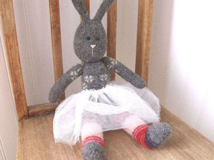 Bunny and Bear - Upcycled Sweater PALS