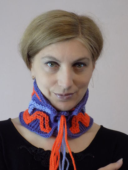 Funny Ellada Knitted Cowl, Knitted Snood, Knit Accessory