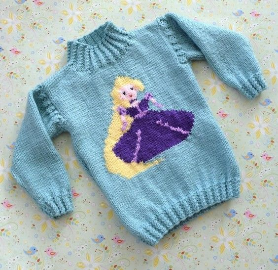 Princess Sweater and Hat - Rapunzel