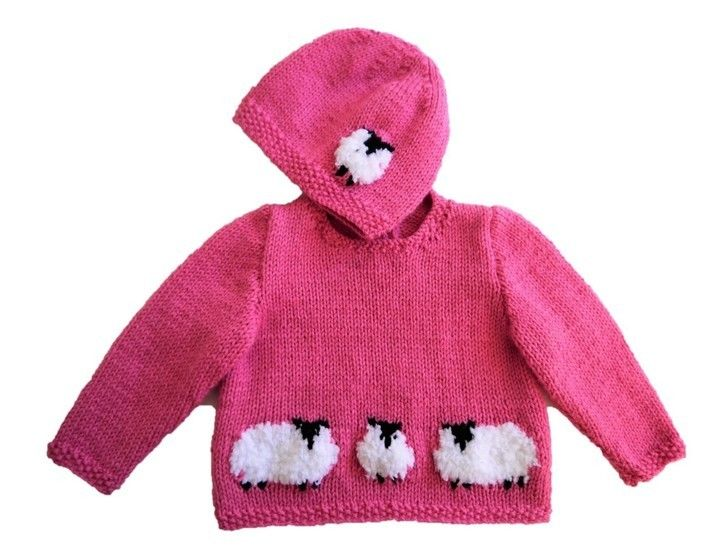 Baby Sheep Sweater and Hat