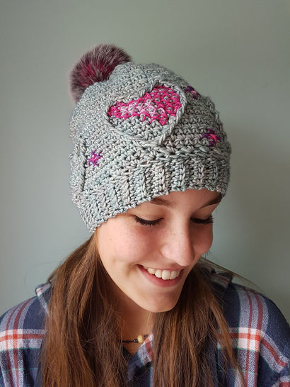 Three of Hearts - tuque à crocheter