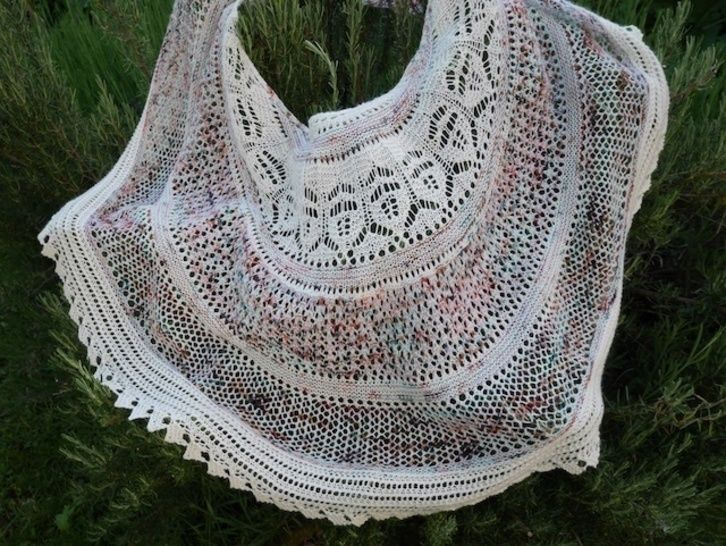 Upolu shawl - knitting pattern