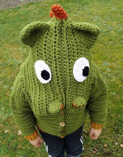 """E-Book """"Dragon-Jacket"""" size newborn up to age 8 years"""