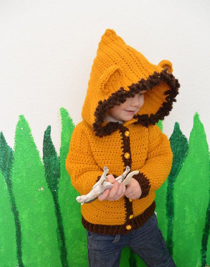 """E-Book """"Lion-Jacket"""" size newborn up to age 8 years"""