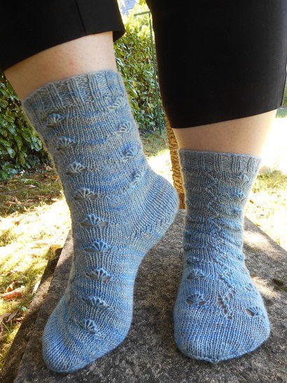 Chaussettes Eventail - explications tricot