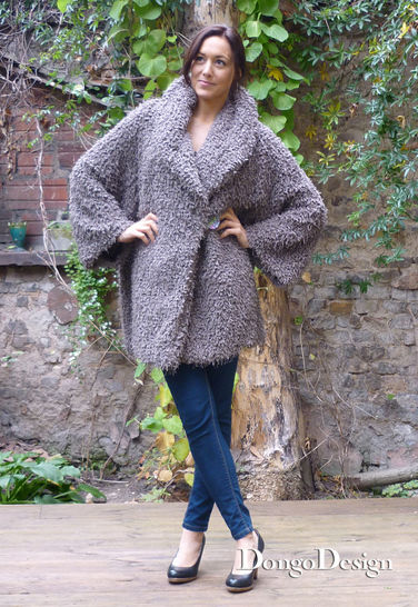 PDF sewing pattern Ebook Pompel Coat with instructions