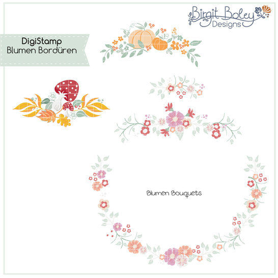 Birgit Boley Designs • DigiStamp Mausi im Regen