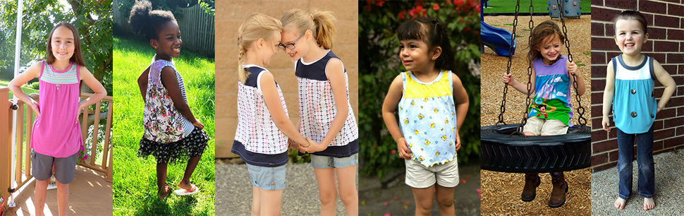 The Ijsje Top Sewing Pattern for sizes 2y-12y