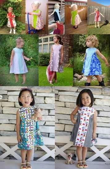The Dadaïsme Dress Sewing Pattern - Sized 12m-12y