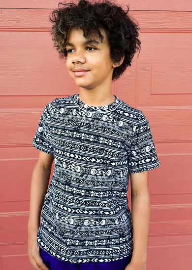 The Drop Tee Sewing Pattern, Sized 18m-16y