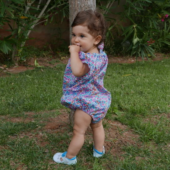 Baby girl romper PDF Pattern short sleeves and sleeveless with Videotutorial