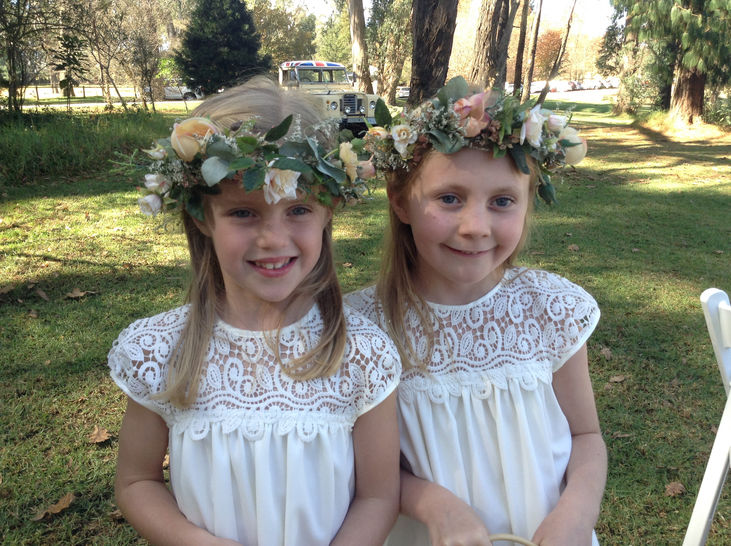 Flower Girl Dress Pattern Sizes aged 2 to 9.