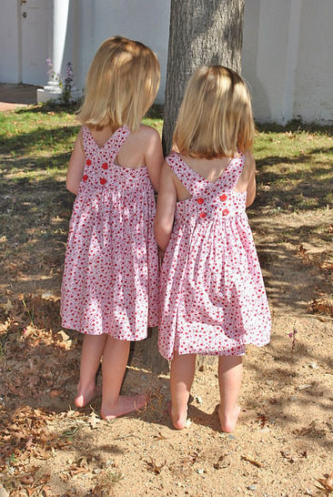 Little Girls Crossover Party Dress with Voile Apron