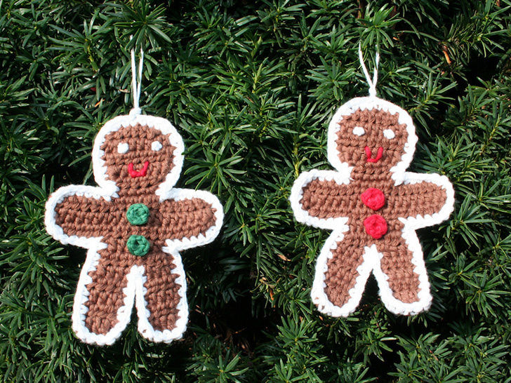 Gingerbread Man - Ornament - Crochet Pattern
