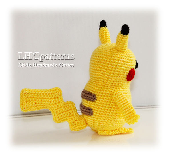 Free Pikachu Crochet Pattern - Sir Purl Grey | Amigurumi patterns ... | 546x592