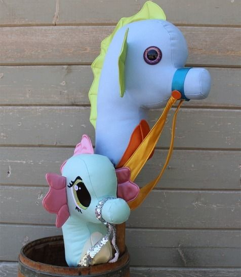 Seahorse Stick Horse Hobby Horse Ride-on Toy