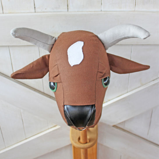 Rodeo Bull Stick Horse Hobby Horse Ride-on Toy