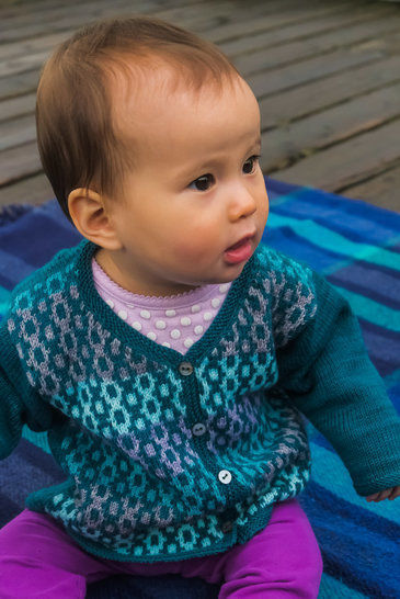 Debonair baby / child's cardigan - hand knitting pattern