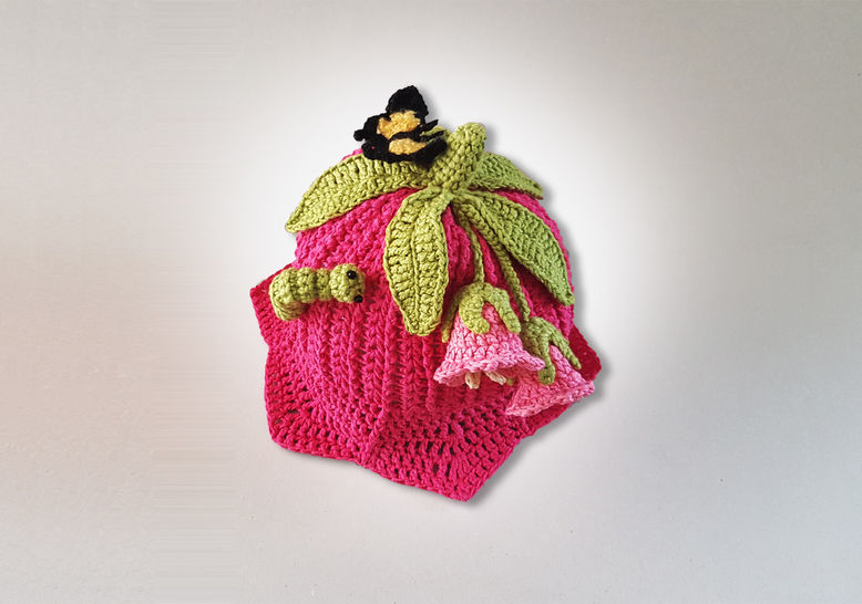 Pink Lily Beanie Hat  (Birth to Teen)