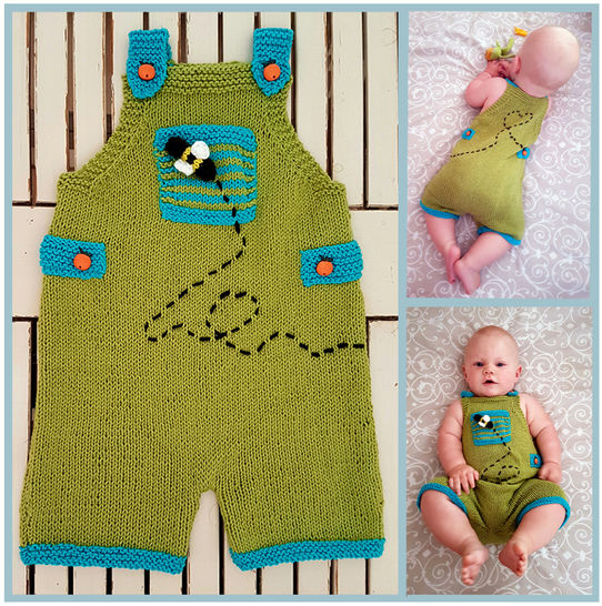 Playful Dungarees  (3 to 24 months)