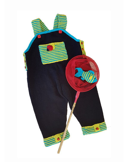 Lets Play Dungaree with Fish - 6 to 24 months
