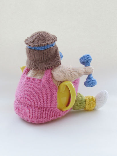 Keep Fit Tea Cosy Knitting Pattern Knit Your Own aerobics Tea Cosy