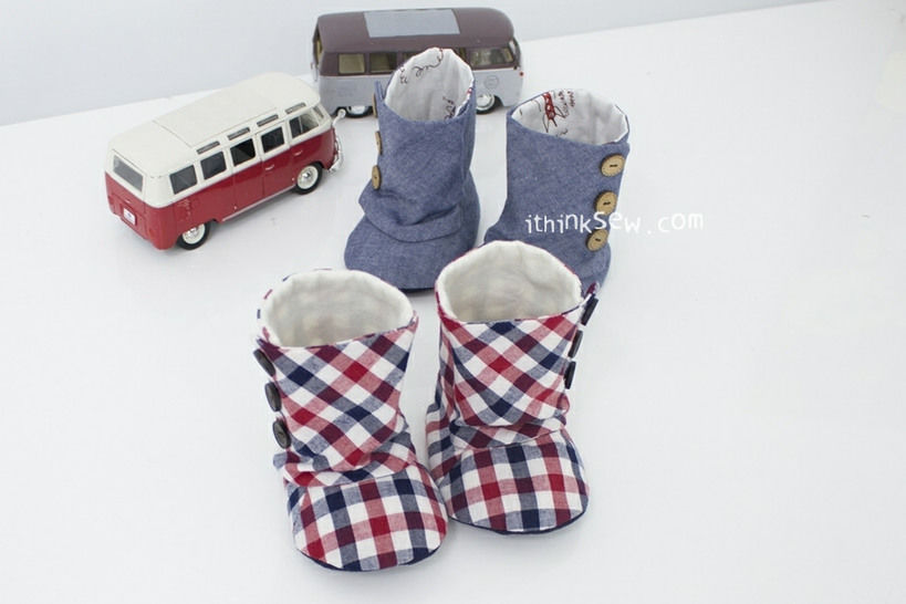 Baby 3 Button Boots PDF Pattern Size 1,2,3,4 (#93)