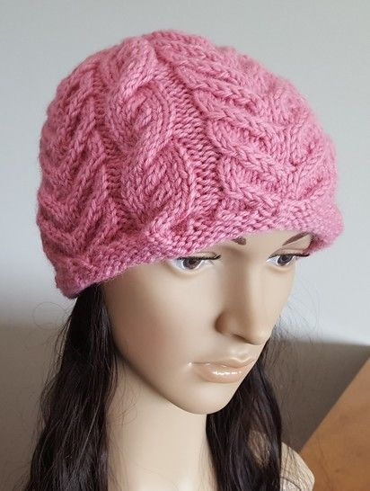 12ply Cable Beanie - PDF knitting pattern - Becky