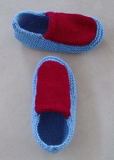 Family 12ply slippers - PDF knitting pattern - Sawyer