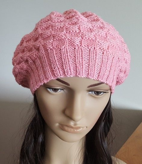 8ply beret style beanie, sizes 2 years to lady - Ivy