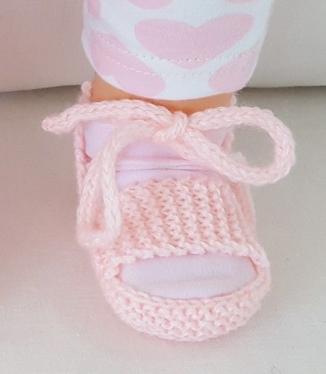 Baby sandals with ankle tie and foot strap - Tatiana