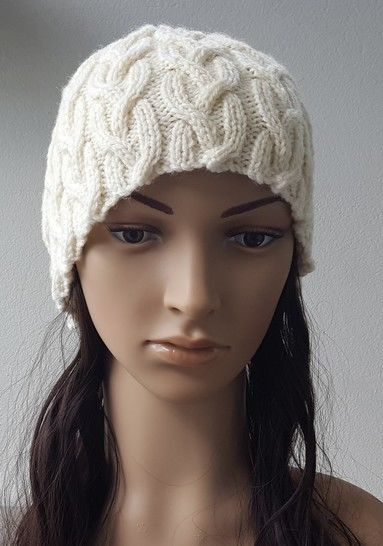 Plaited cable beanie in 8ply - 2 years to Lady - Holly