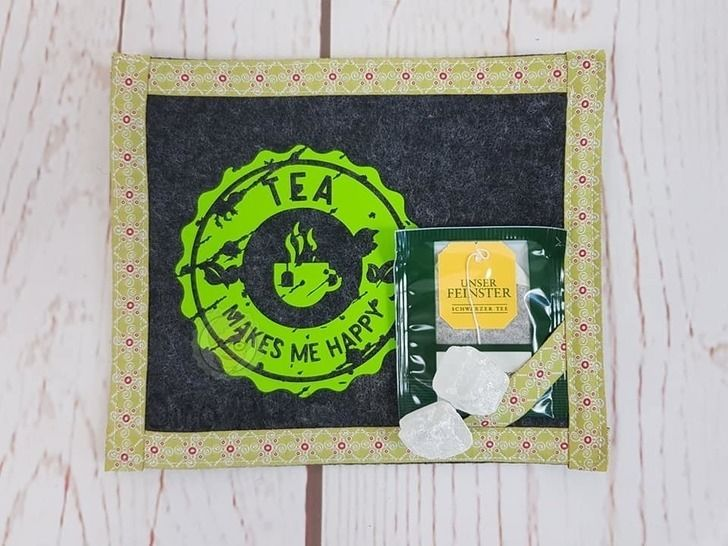 Cutting file coffee & tea, for cups and presents, used look
