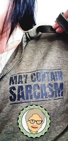 """Cutting file """"may contain sarcasm"""", used look"""