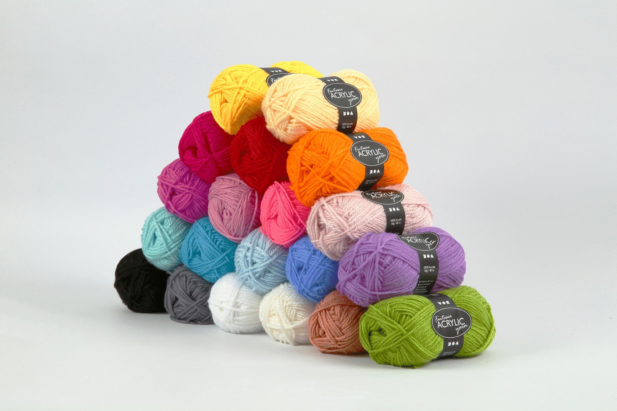 Assortiment de laine acrylique 50 g - Fantasia Maxi