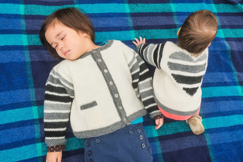 Love Lines baby/child's cardigan - hand knitting pattern